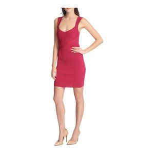 Guess Womens Sheath Party Dress Sleeveless Berry